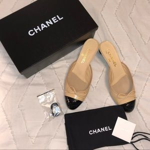 BRAND NEW Chanel Slip on Patent Leather Mules